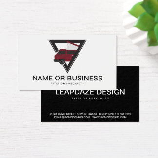 triangle maroon bus business card