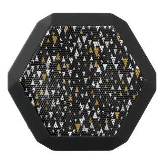 Triangle Modern Art - Black Gold Black Bluetooth Speaker