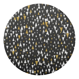 Triangle Modern Art - Black Gold Eraser