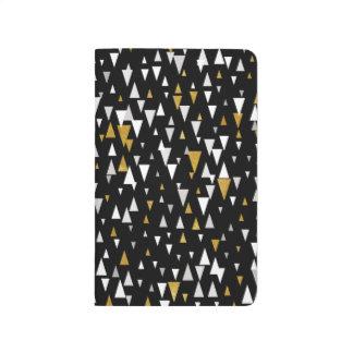 Triangle Modern Art - Black Gold Journal