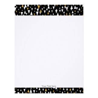 Triangle Modern Art - Black Gold Letterhead
