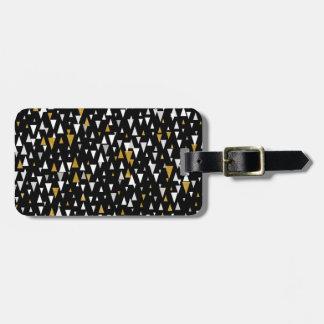 Triangle Modern Art - Black Gold Luggage Tag