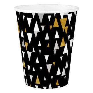 Triangle Modern Art - Black Gold Paper Cup