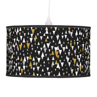 Triangle Modern Art - Black Gold Pendant Lamp