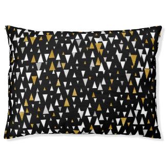 Triangle Modern Art - Black Gold Pet Bed