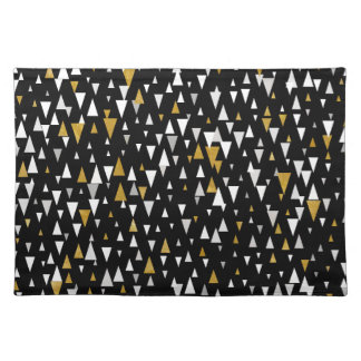 Triangle Modern Art - Black Gold Placemat
