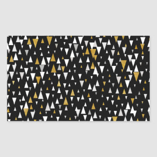 Triangle Modern Art - Black Gold Sticker