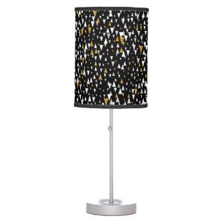 Triangle Modern Art - Black Gold Table Lamp
