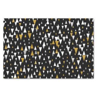 Triangle Modern Art - Black Gold Tissue Paper