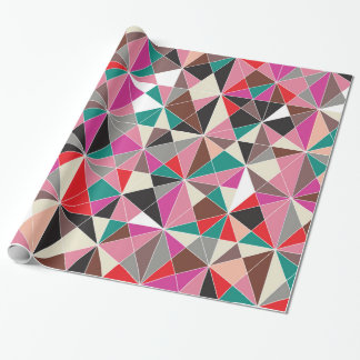 Triangle Mosaic Pattern Wrapping Paper