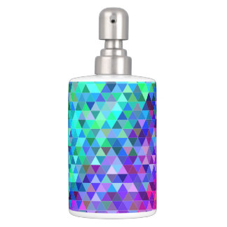 Triangle mosaic rainbow bathroom set