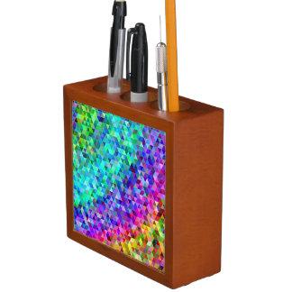Triangle mosaic rainbow desk organizer