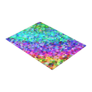 Triangle mosaic rainbow doormat