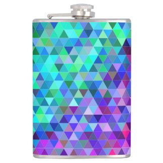 Triangle mosaic rainbow flask