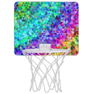 Triangle mosaic rainbow mini basketball hoop