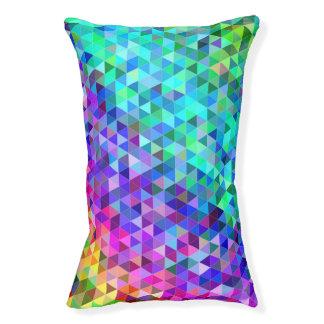 Triangle mosaic rainbow pet bed