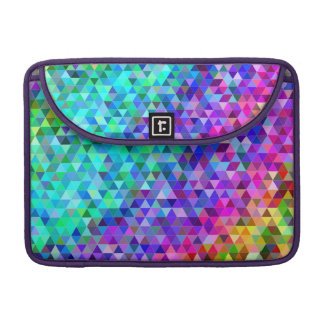 Triangle mosaic rainbow sleeves for MacBook pro
