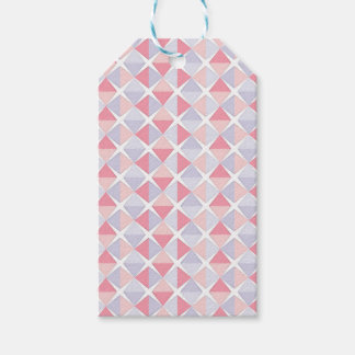 Triangle Pastel Pattern Gift Tags