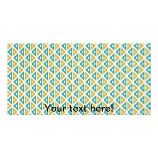 Triangle pattern customized photo card