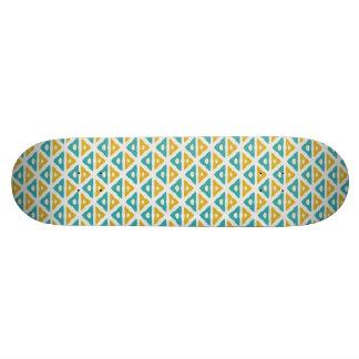 Triangle pattern skate board deck