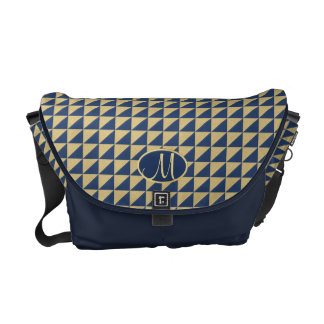Triangle Pattern with Monogram Courier Bag
