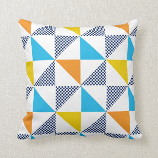 Triangle Patterns Throw Pillow