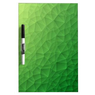 Triangle polygonal pattern dry erase board