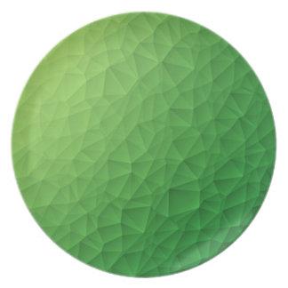 Triangle polygonal pattern plate