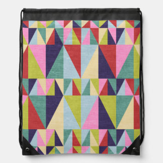 Triangle Pop Art Drawstring Bag