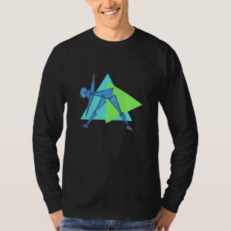 Triangle Pose - Long-Sleeve Yoga Shirts Men