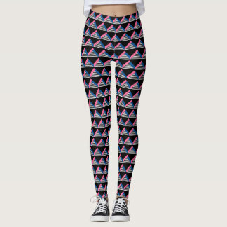 triangle print bold print leggings
