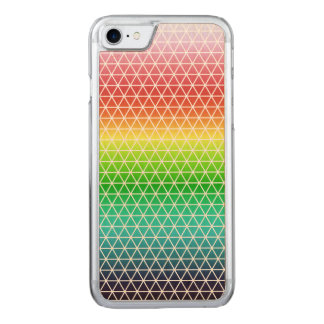 Triangle Rainbow Geometric Framework Tessellation Carved iPhone 7 Case