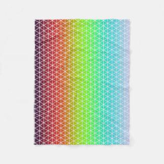 Triangle Rainbow Geometric Framework Tessellation Fleece Blanket