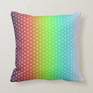 Triangle Rainbow Geometric Framework Tessellation Throw Pillow