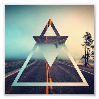 Triangle Shape Background Bright Pyramid Design Photograph