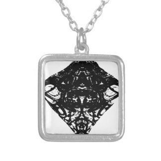 triangle silver plated necklace