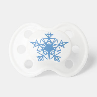 Triangle Snowflake Pacifiers