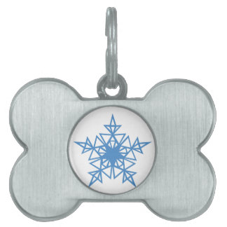 Triangle Snowflake Pet Tag