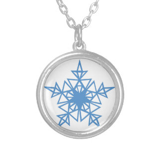 Triangle Snowflake Silver Plated Necklace