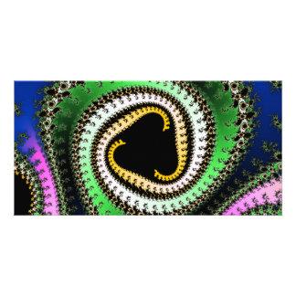 Triangle Spirals Fractal Design Photo Cards