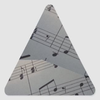 Triangle stickers, glossy, with music notes triangle sticker