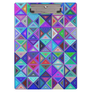 Triangle tile mosaic clipboards