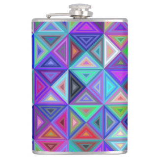 Triangle tile mosaic flasks