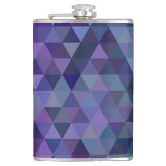 Triangle tiles hip flask