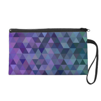 Triangle tiles wristlet purses