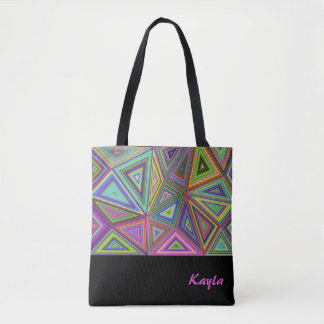 Triangle Triumph Colourful Tote Bag