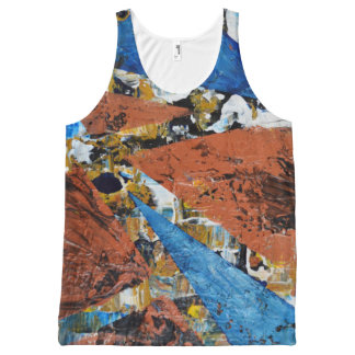 Triangles - All-Over Printed Unisex Tank