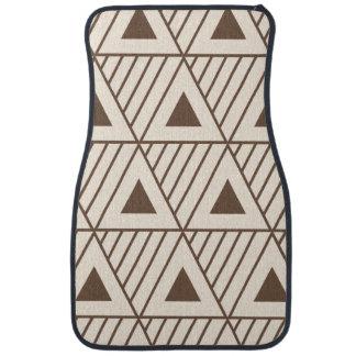 Triangles beiges et brunes tapis de voiture