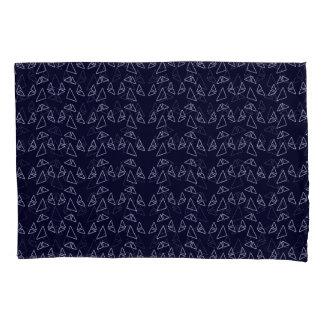 Triangles Blue Modern Pillowcase Set