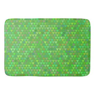 Triangles - Bright Green Bathroom Mat